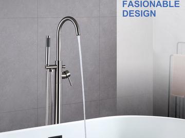 Prefabricated Materials: Rainlex Modern Style Freestanding Bathtub Filler Faucet
