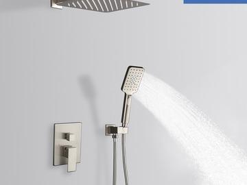 "Prefabricated Materials: Rainlex Brush Nickel Wall-Mounted Dual Functions Shower 12"""