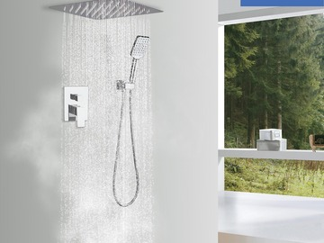 Prefabricated Materials: Rainlex Chrome Plating Ceiling-Mounted Dual Functions Shower