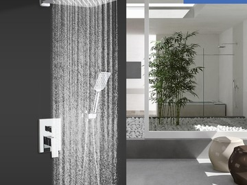 Prefabricated Materials: Rainlex Chrome Plating Wall-Mounted Dual Functions Shower System