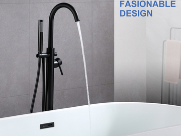 Prefabricated Materials: Rainlex Freestanding Bathtub Filler Faucet Floor Mount, MB