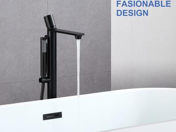 Materials and Products: Rainlex Freestanding Bathtub Filler Faucet Floor Mount 03 MB