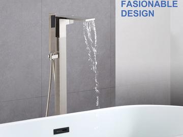 Materials and Products: Rainlex Freestanding Bathtub Filler Faucet Floor Mount 04 BN