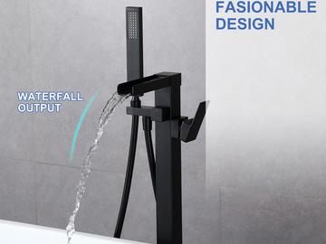 Materials and Products: Rainlex Freestanding Bathtub Filler Faucet Floor Mount 02 MB