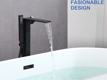 Materials and Products: Rainlex Freestanding Bathtub Filler Faucet Floor Mount 04 MB