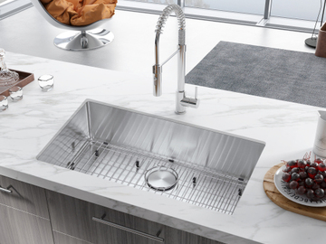 Materials and Products: 32 in. Undermount Single Bowls Stainless Steel Kitchen Sink